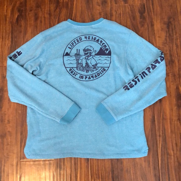 Lrg Other - LRG Rest in Paradise Blue Crewneck Sweatshirt